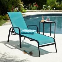 Essential Garden Bartlett Solid Stacking Lounge- Blue ...