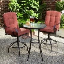 Jaclyn Smith Cora 3pc High Bistro Set - Red