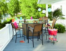 Essential Garden Fulton 5-piece Patio Bar Set Limited