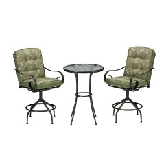 Bistro Table And Chairs Kmart Thermarest Trekker Chair 20 Jaclyn Smith Cora 3 Piece High Set In Green