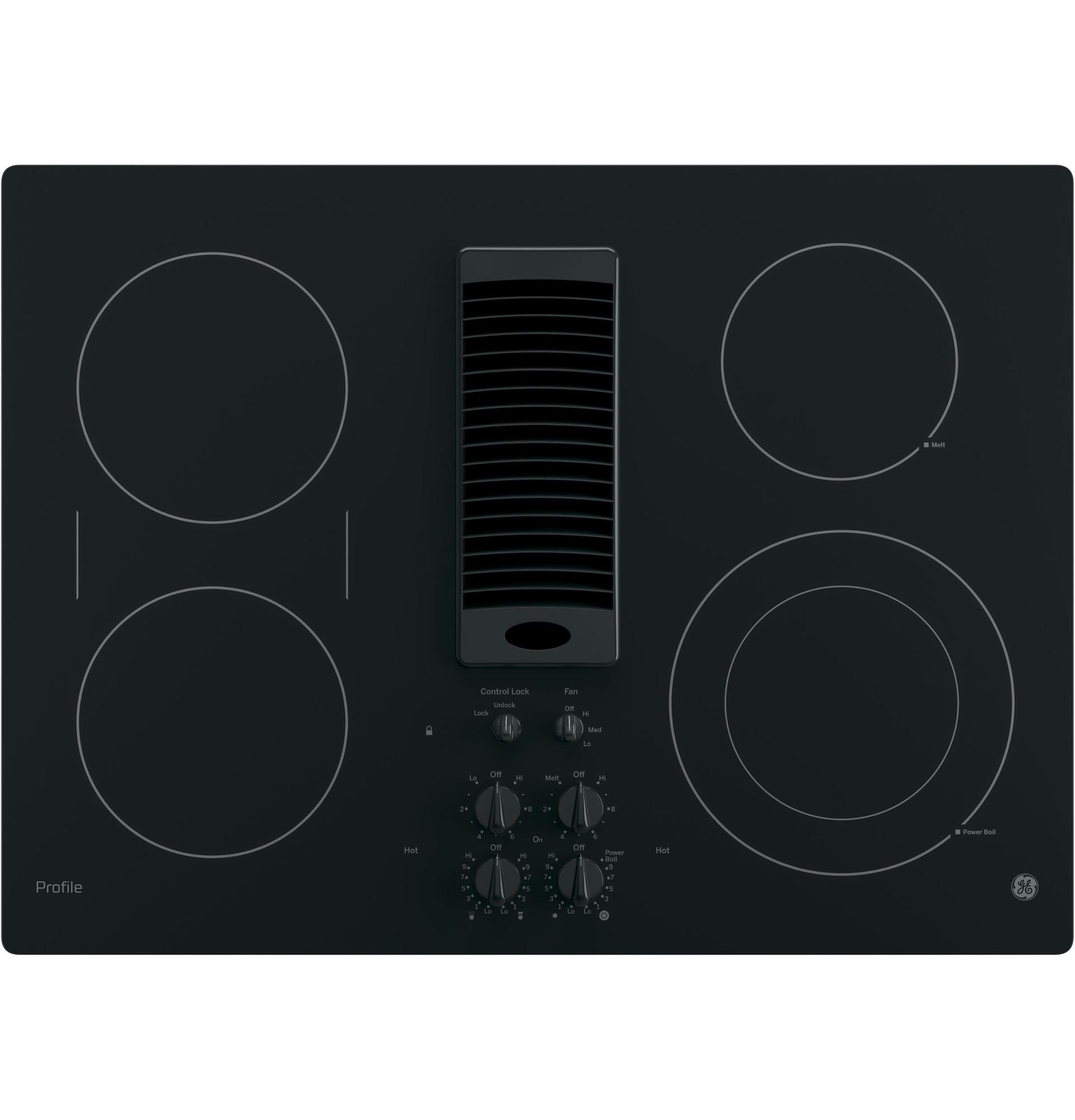 electric stove metric conversion diagram shop the best cooktops gas tops at sears ge profile series pp9830djbb 30 downdraft cooktop black