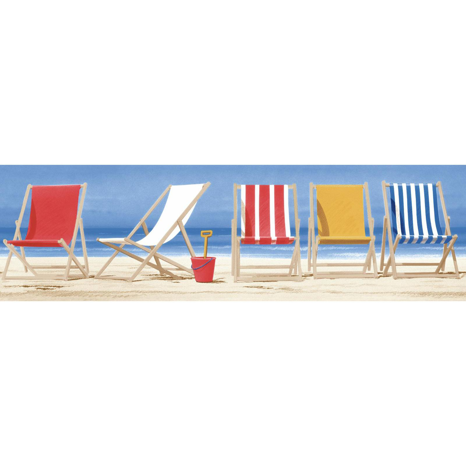 sailcloth beach chairs folding camping picnic table and york wallcoverings border in blue red yellow