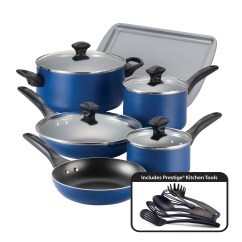 Kitchen Cookware Sets How To Paint Cabinets White Without Sanding Farberware Dishwasher Safe Nonstick Aluminum 15 Piece