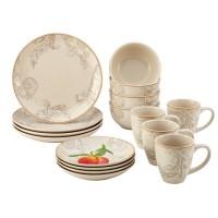 Paula Deen Orchard Harvest Stoneware 16-Piece Dinnerware ...