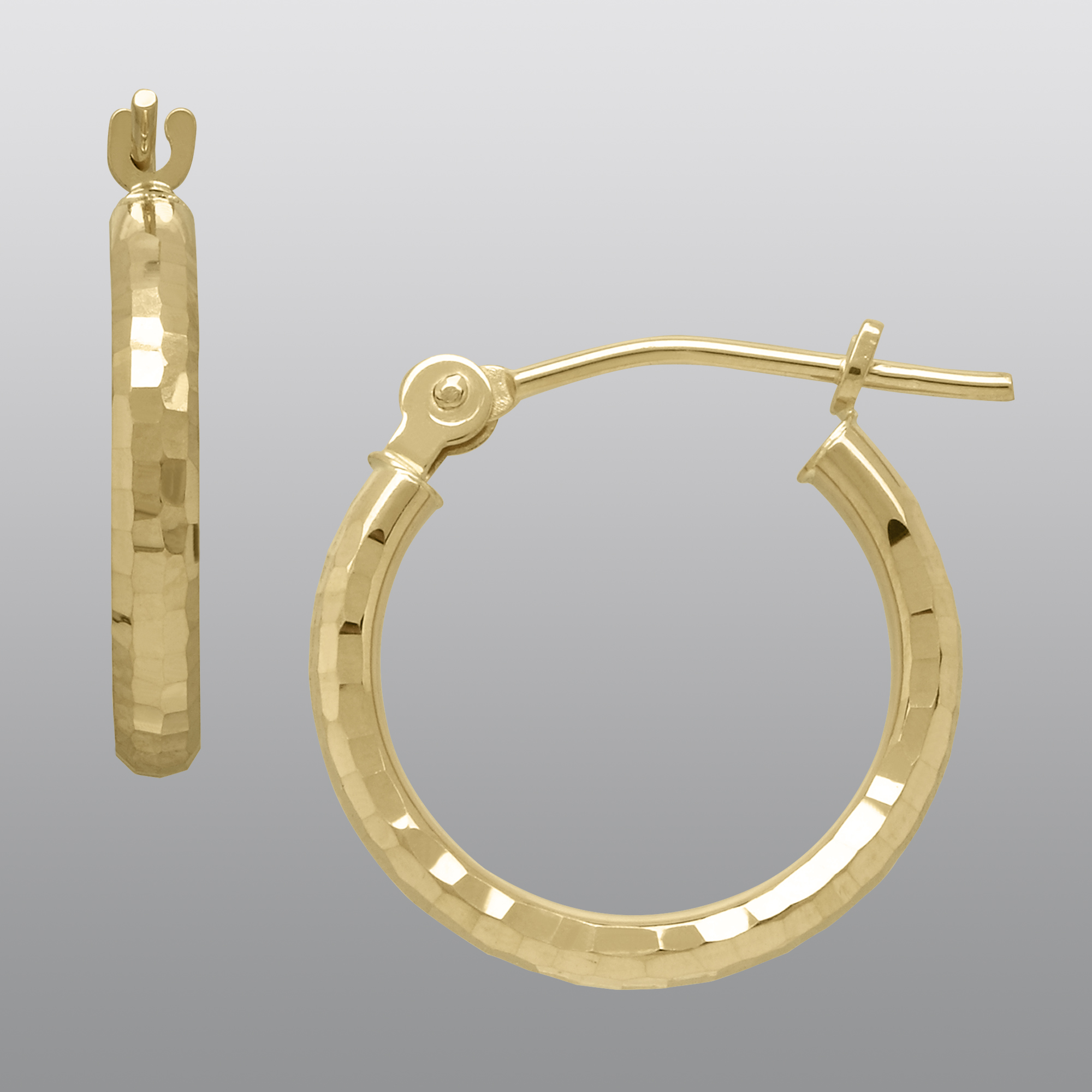 True Gold 14k Hoop Earrings