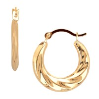 10 Karat Yellow Gold Polished Back To Back Small Swirl