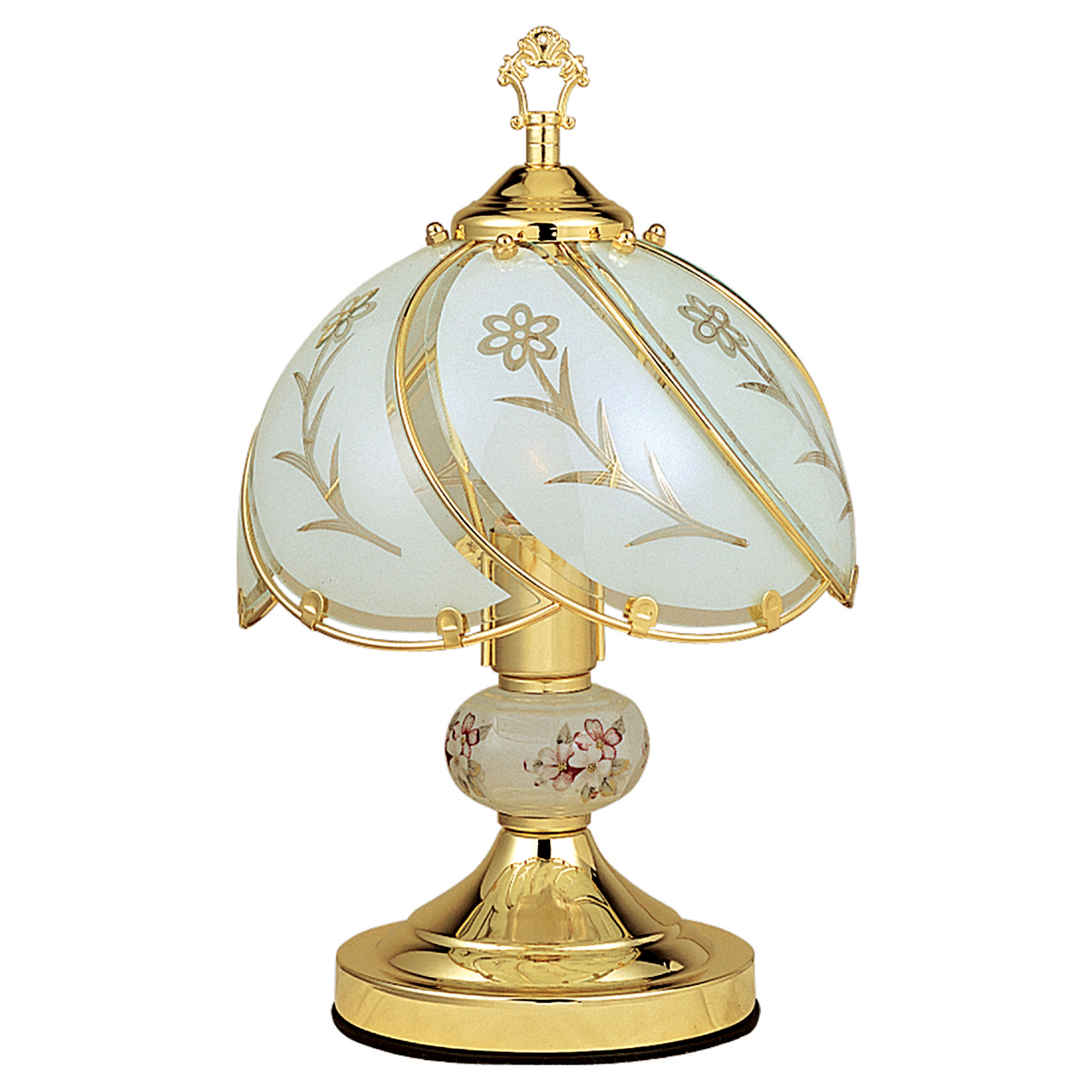 Ore International 14.25 Touch Lamp - Floral