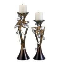 Ore International Florria Decorative Candle Holder Set