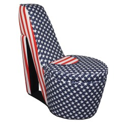 Red Heel Chair Dining Seat Covers Ikea Ore International Patriotic White And Blue High