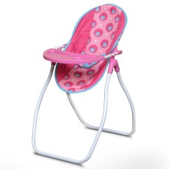 Baby Chair Swing Pink One And A Half Canada Highchair Carrier Seat Doll Foldable Rocker