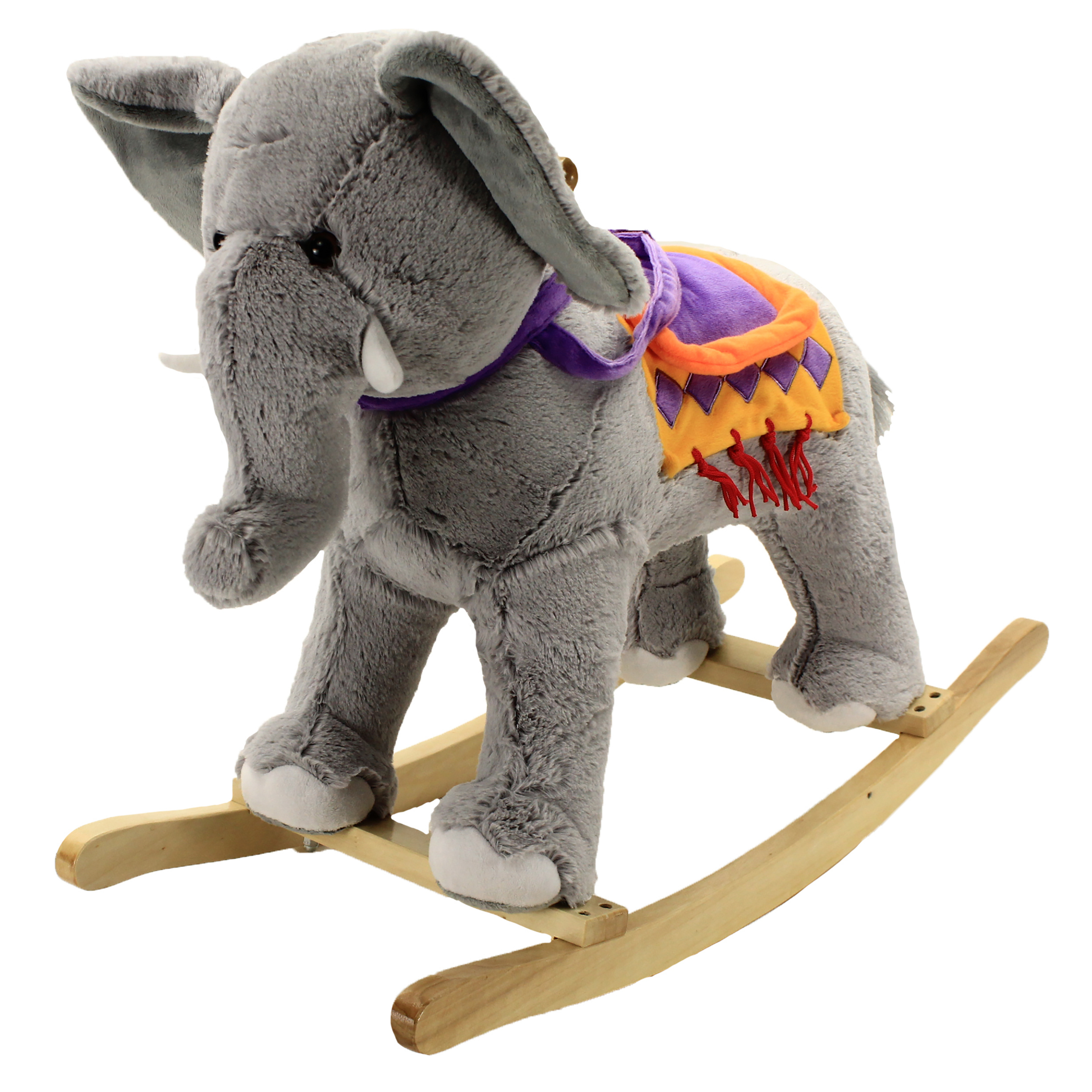 plush animal rocking chairs stackable resin lowes adventure rocker circus elephant toys