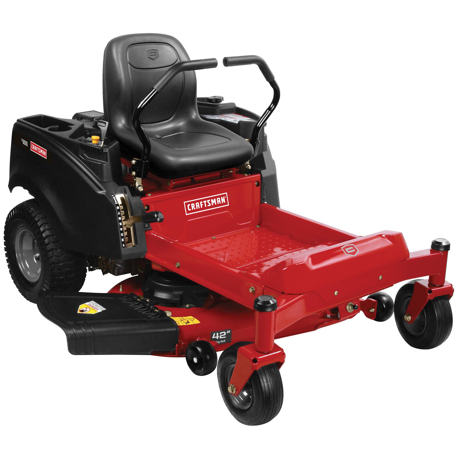 craftsman 20411 42 22 hp v twin briggs stratton zero turn riding mower [ 1800 x 1800 Pixel ]