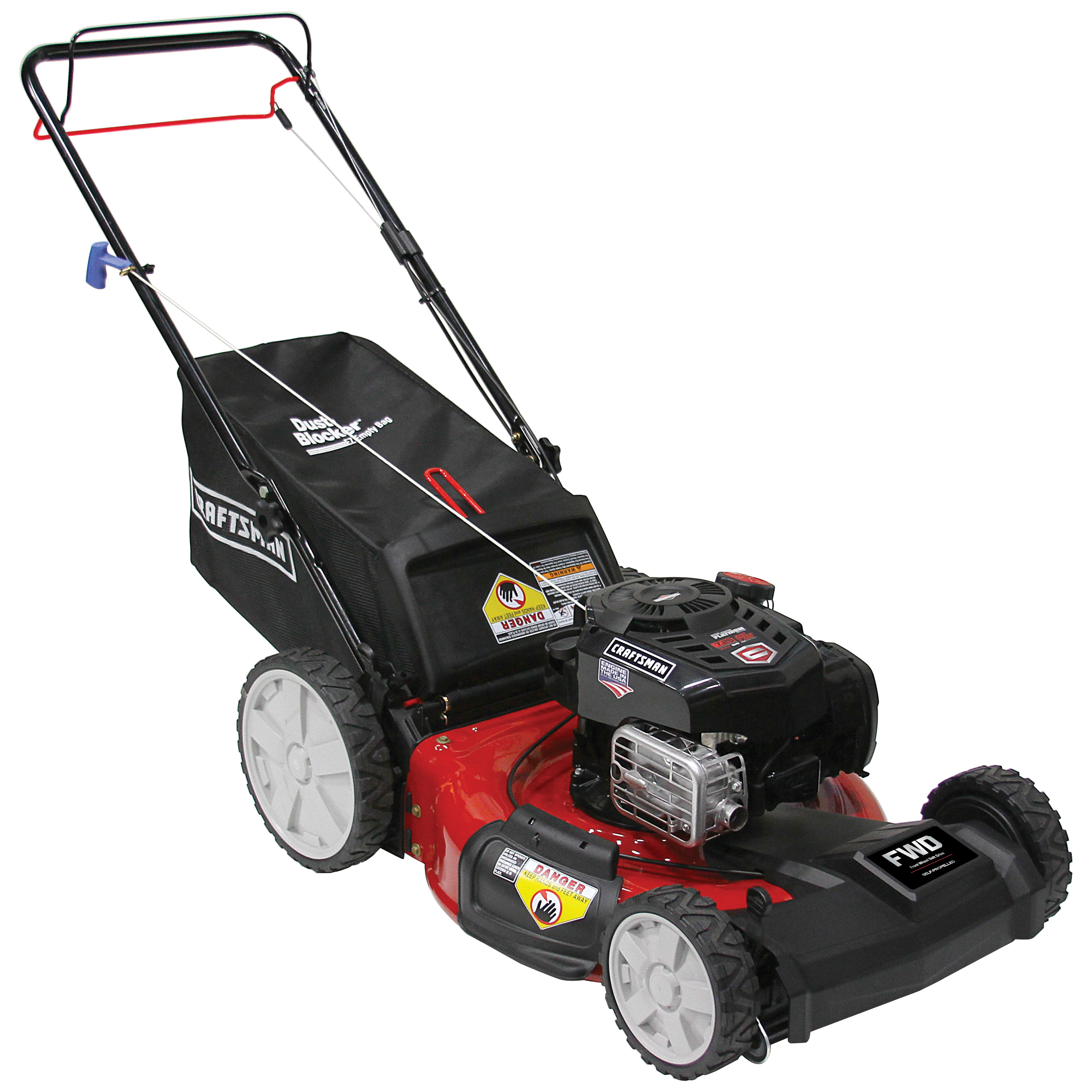 hight resolution of craftsman 37705 21 163cc front wheel drive lawn mower with high rear wheels