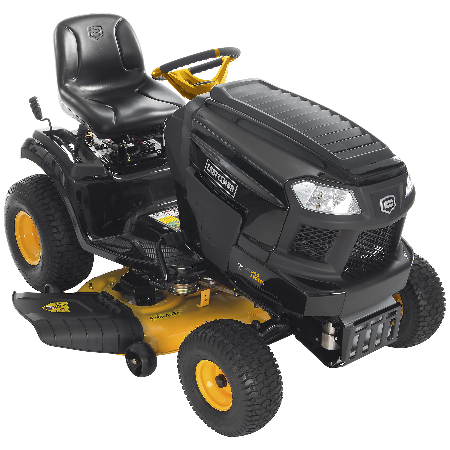 craftsman proseries 27038 42 20 hp kohler v twin riding mower with smart lawn technology [ 1800 x 1800 Pixel ]
