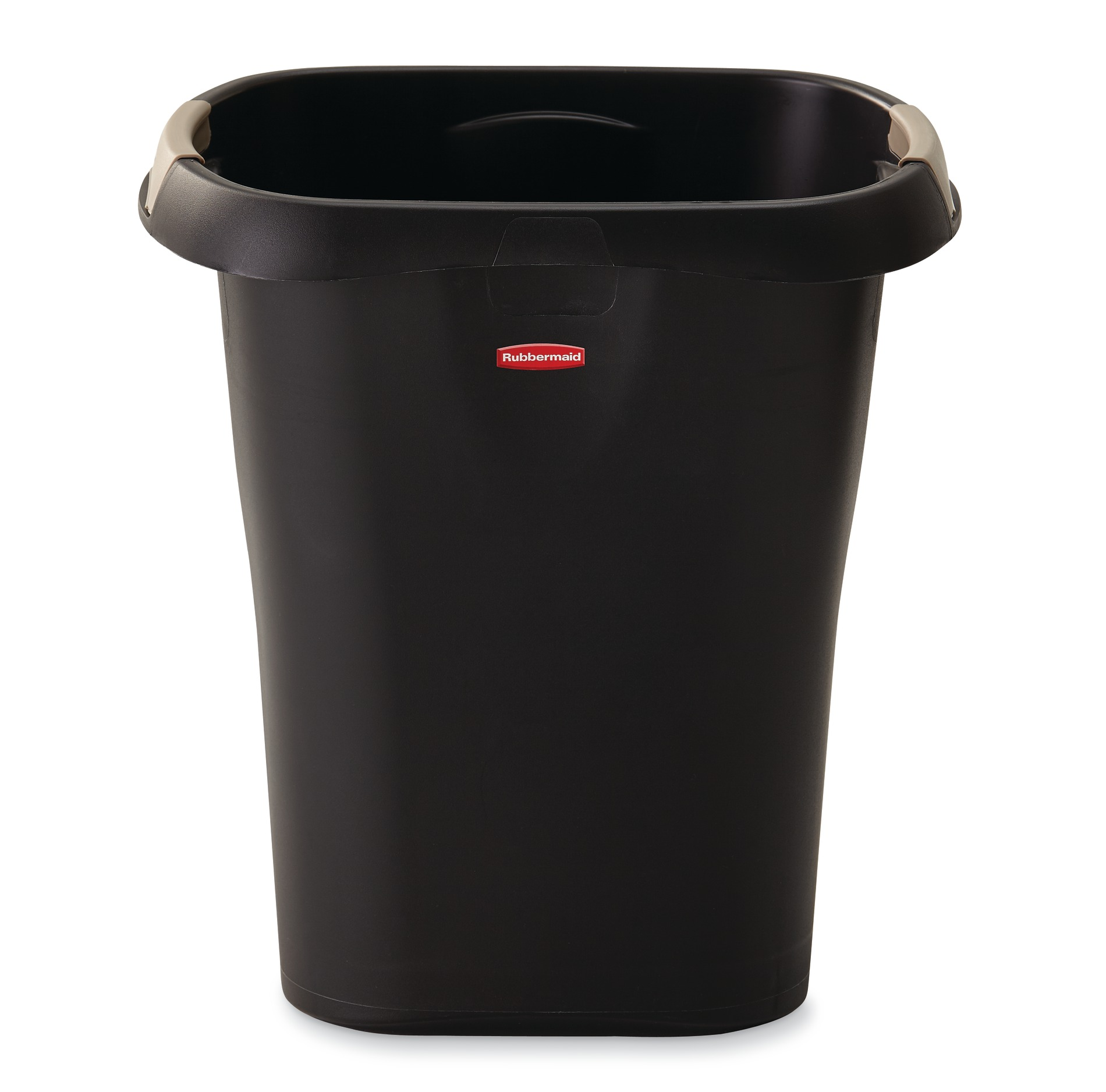 trash cans kitchen cabinet brands garbage sears rubbermaid 21 quart liner lock waste basket black