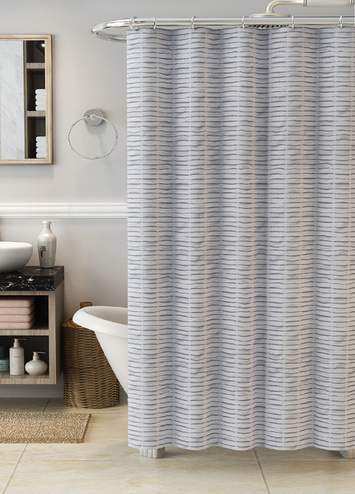 Gray Shower Curtains & Liners Kmart