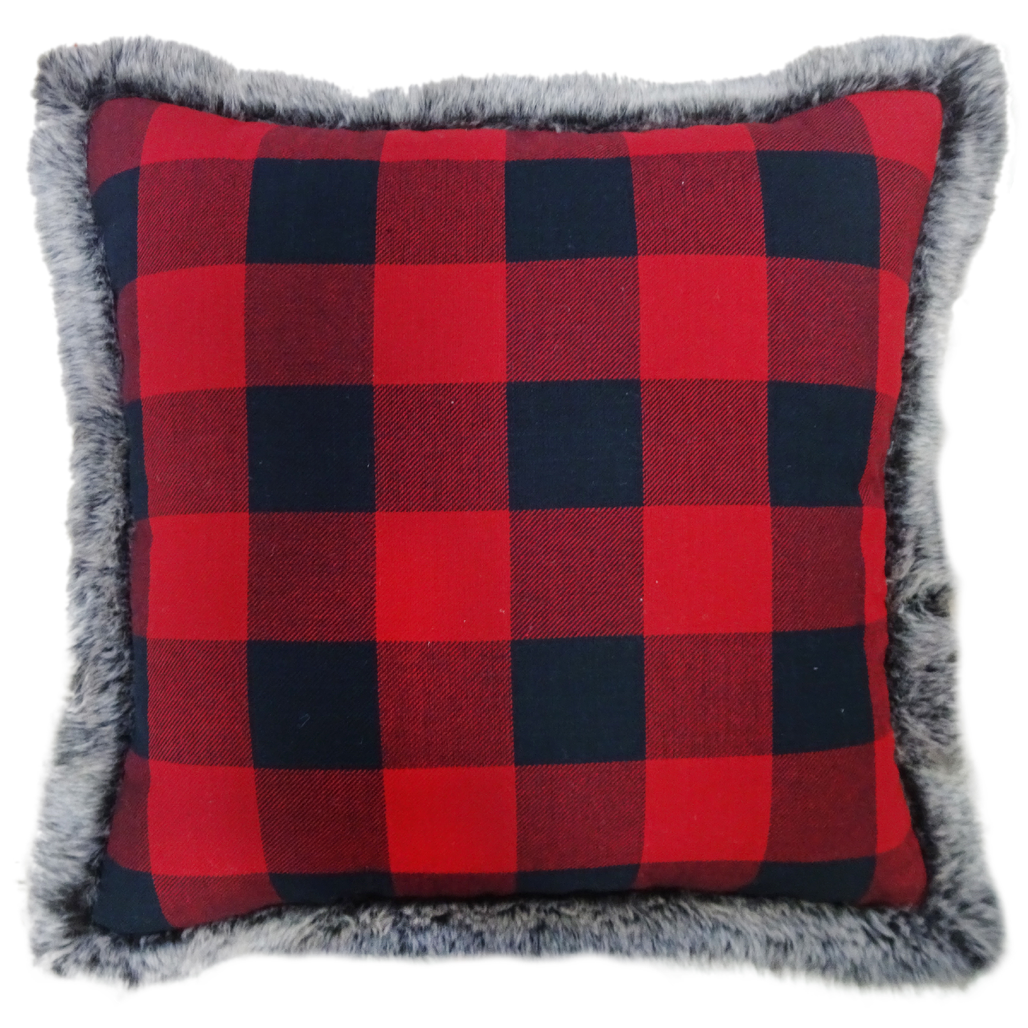 buffalo leather chair wrought iron kitchen chairs plaid decorative pillow - home decor pillows, throws & slipcovers ...
