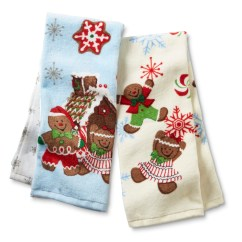 Cheap Kitchen Towels Tables For Small Kitchens Trim A Home 2 Pack Christmas Gingerbread