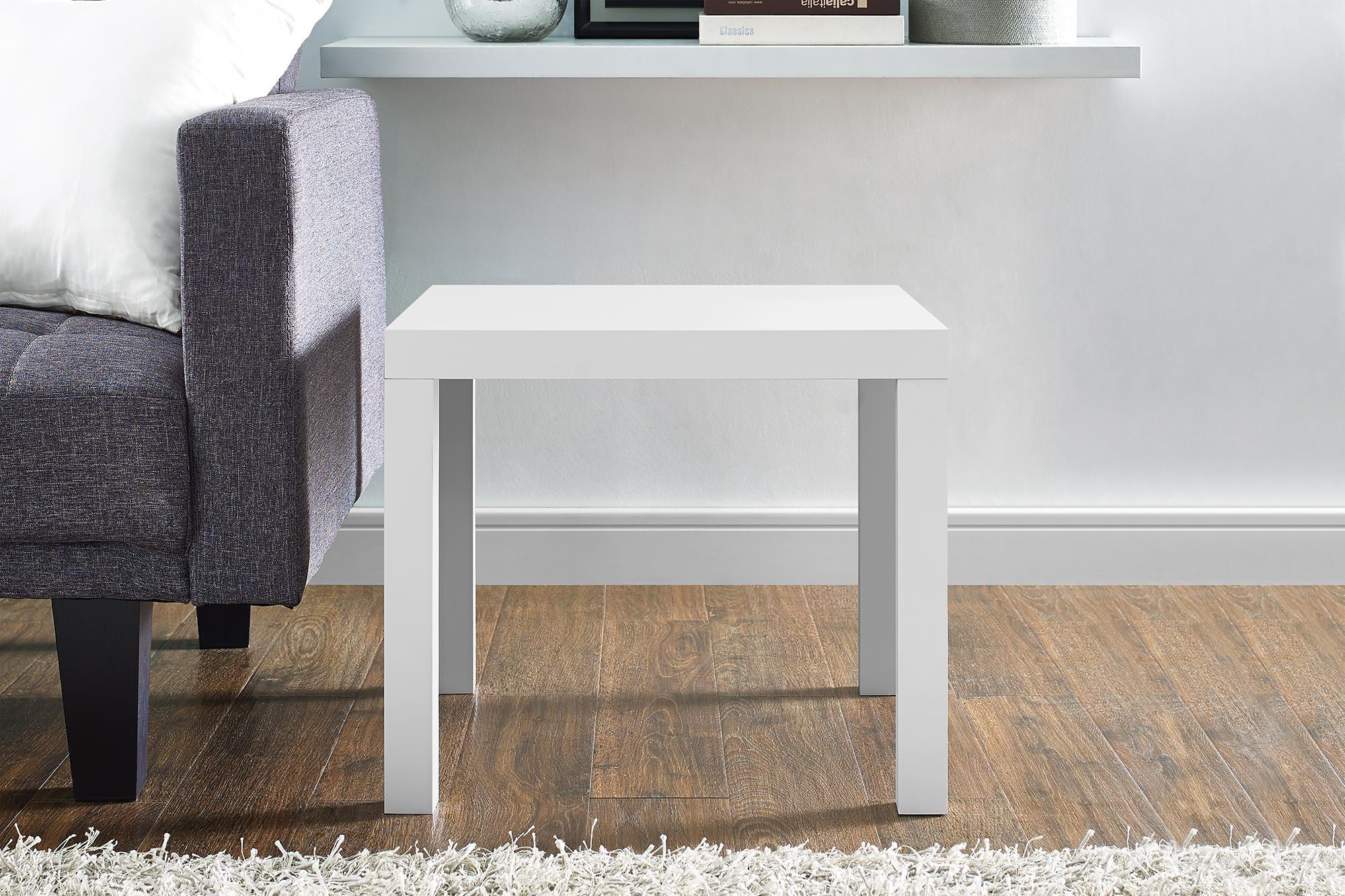 Dorel Parsons White End Table