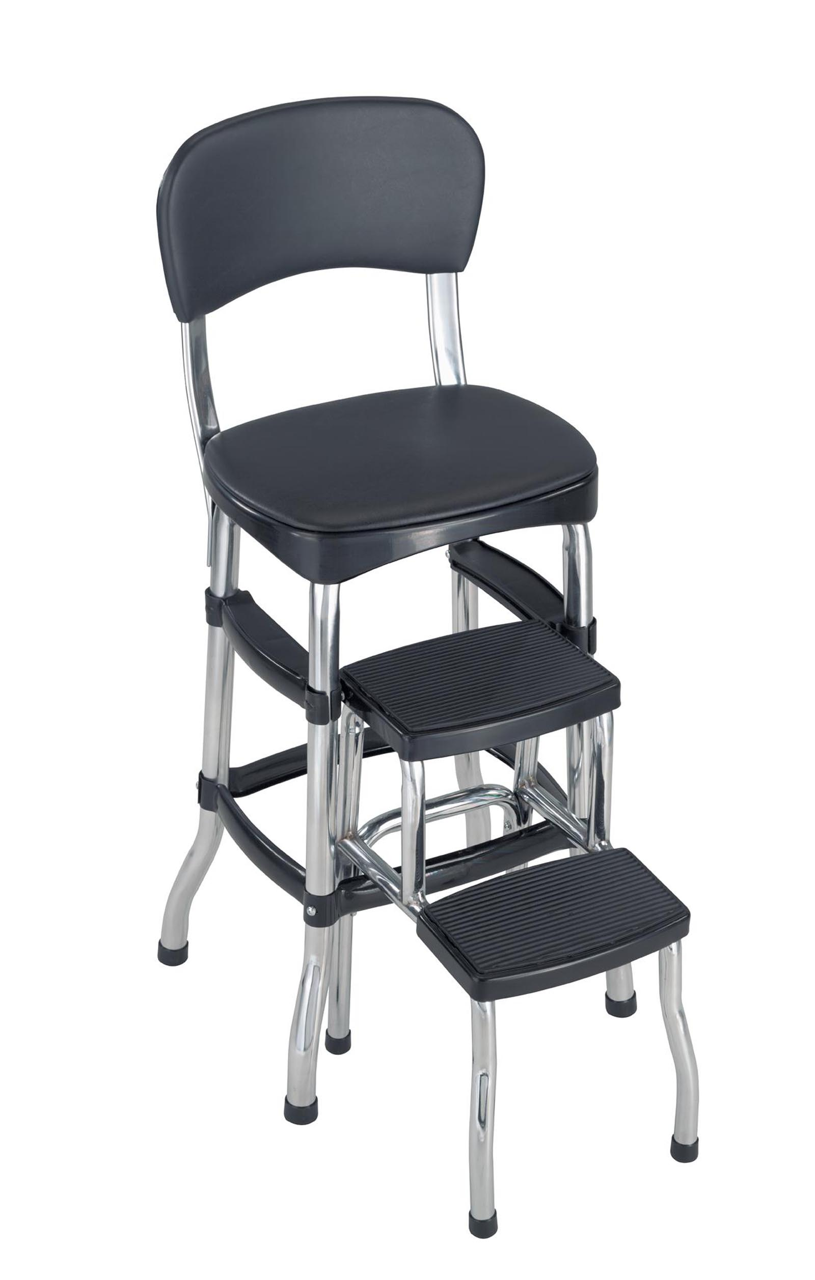 cosco retro counter chair step stool power accessories bags home and office products black