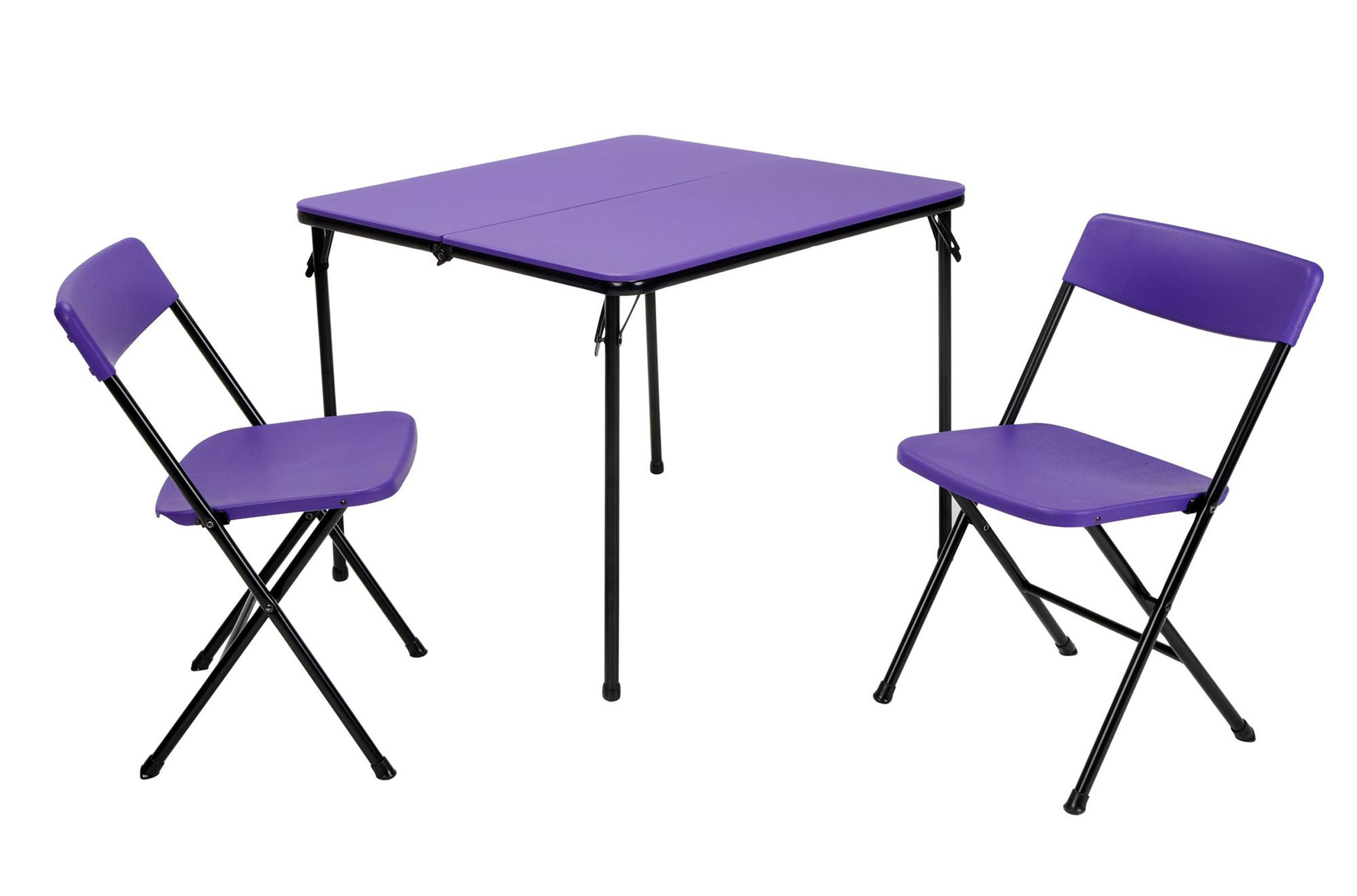 Cosco Card Table And Chairs Cosco Home And Office Products 3 Piece Purple Center Fold