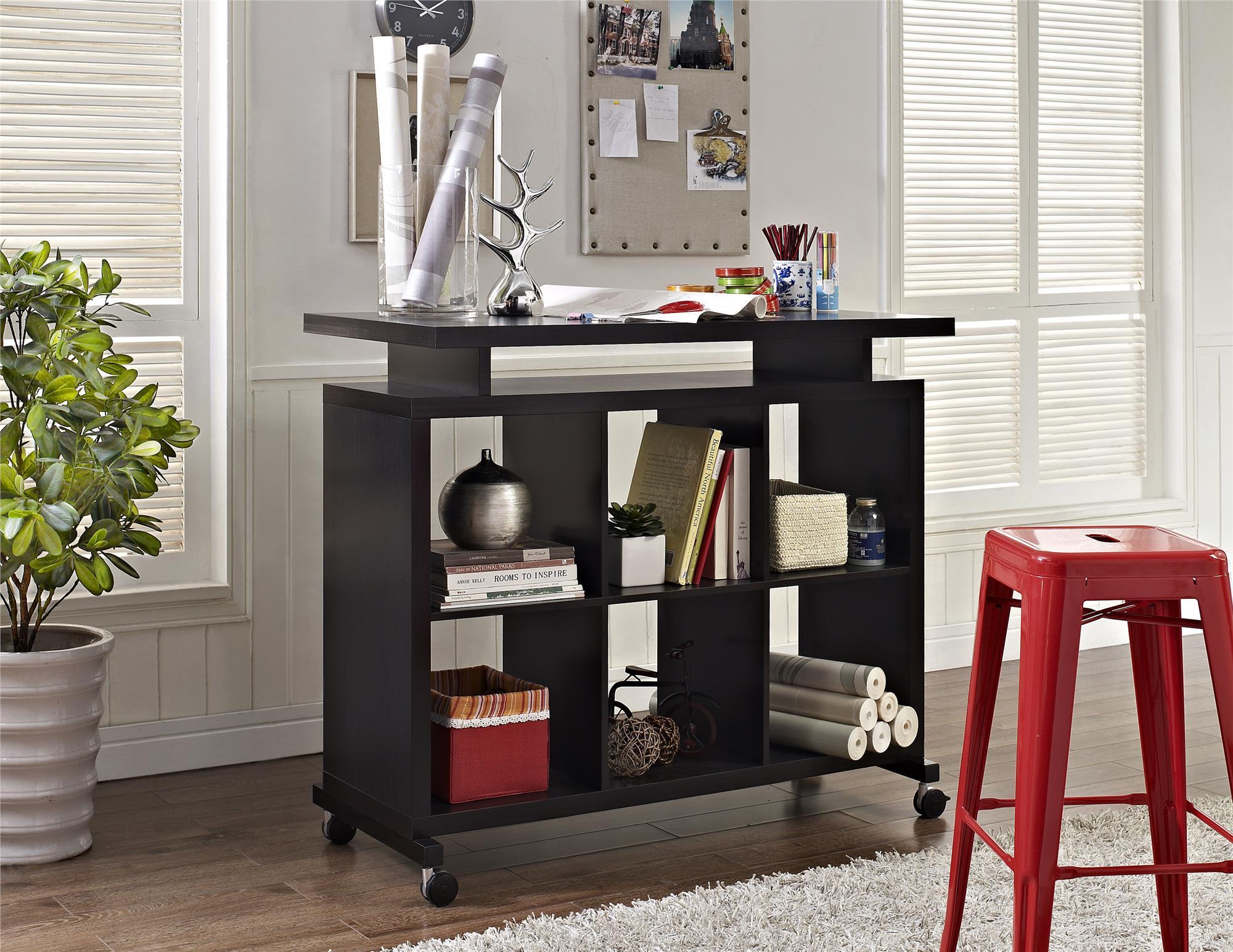 Dorel Lincoln Espresso Multipurpose Standing Desk  Shop