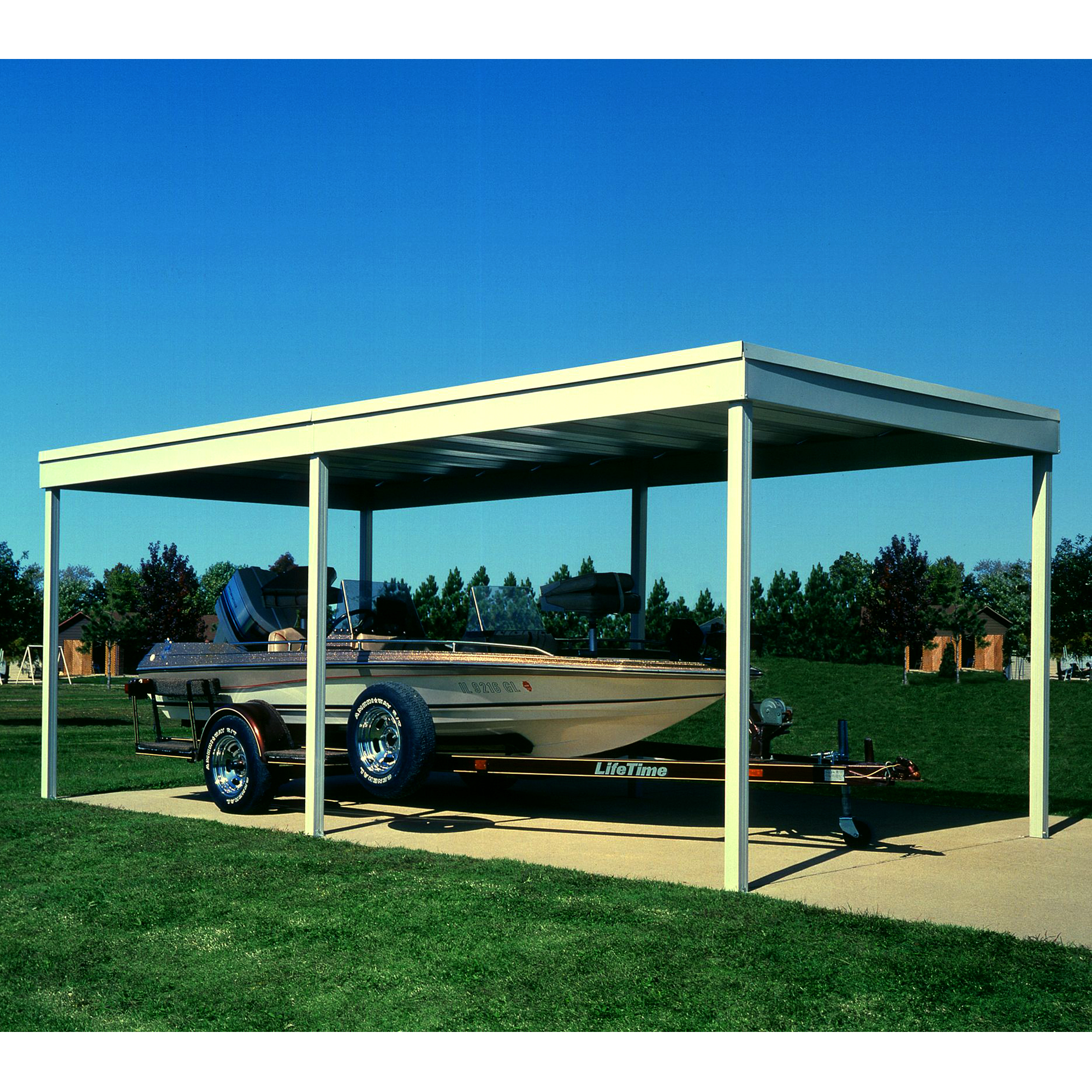 Arrow Cp1020 10 X20 Freestanding Steel Patio Cover Carport