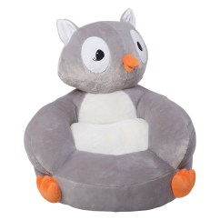 Owl Chair For Kids Wicker Wingback Cushions Trend Lab 102652 Children 39s Plush Character