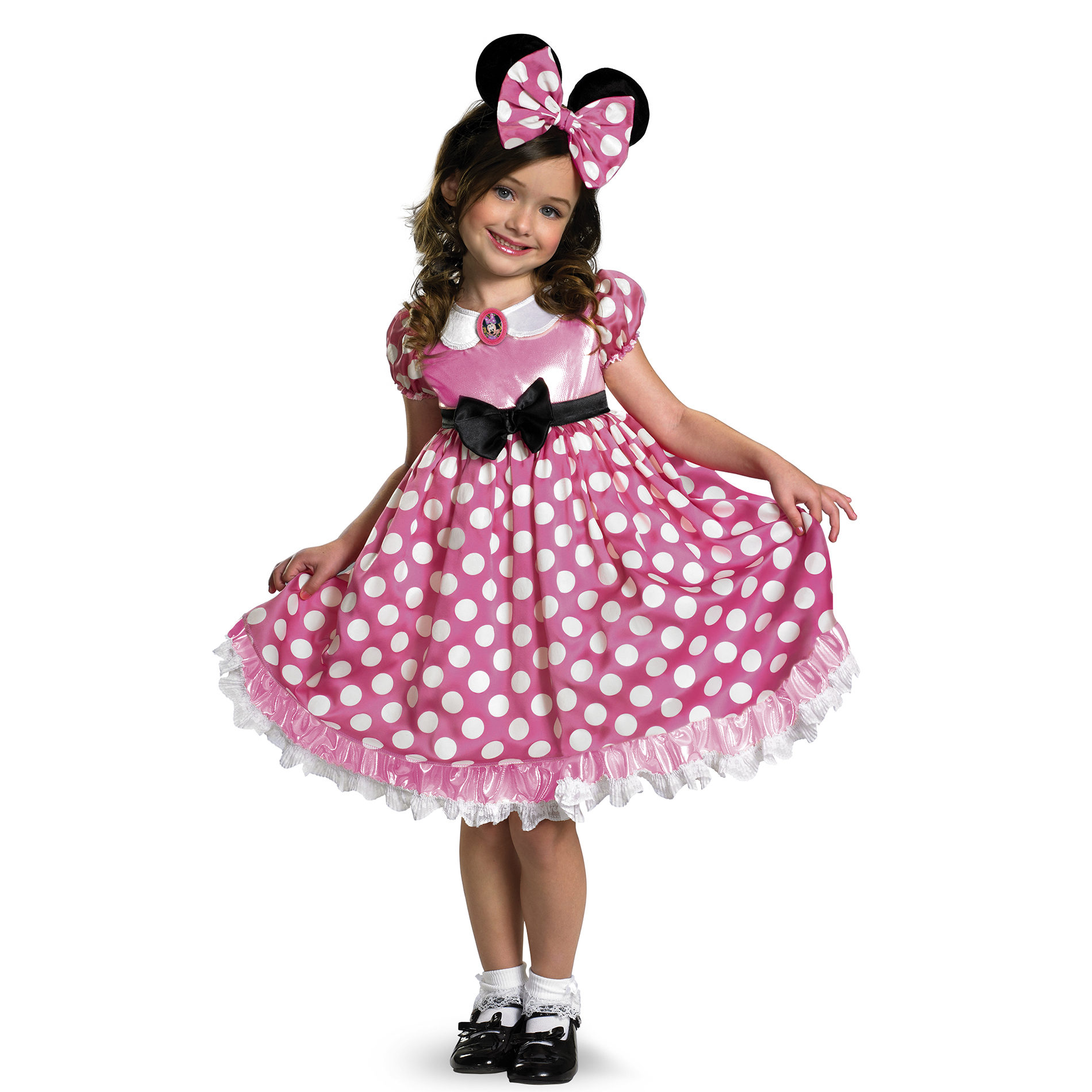 Disney Halloween Pink Minnie Glow Toddler 3t-4t Costume