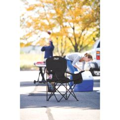Coleman Camping Oversized Quad Chair With Cooler Dining Seat Covers B And M Built In Cup