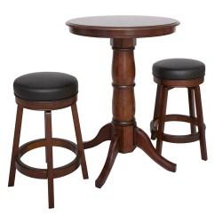 Bistro Table And Chairs Kmart Rod Iron Hathaway Oxford 3 Piece Hardwood Pub Set Walnut