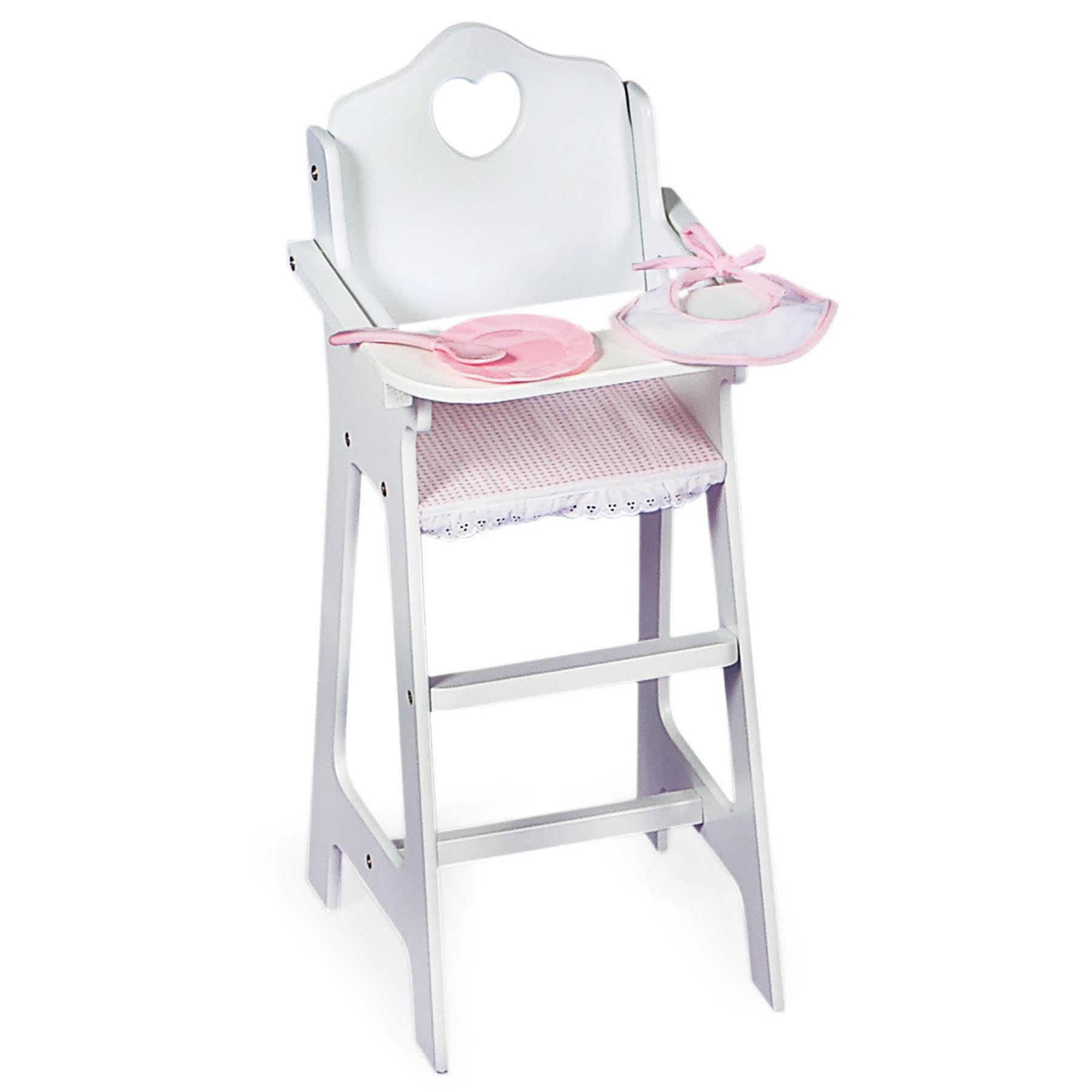 Badger High Chair Badger Basket Doll Highchair With Plate Bib Spoon