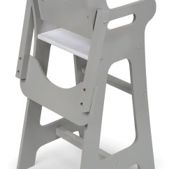 Badger Basket High Chair Rent Covers For Wedding Cheap Doll Executive Gray 3