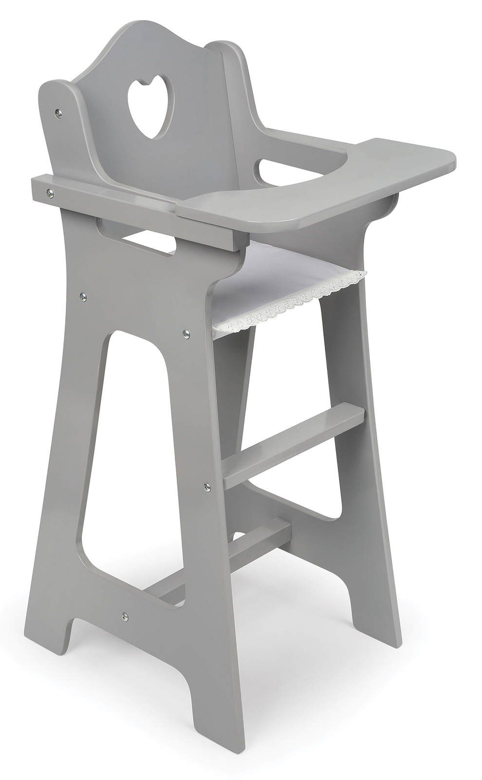 Badger Basket Doll High Chair  Executive Gray