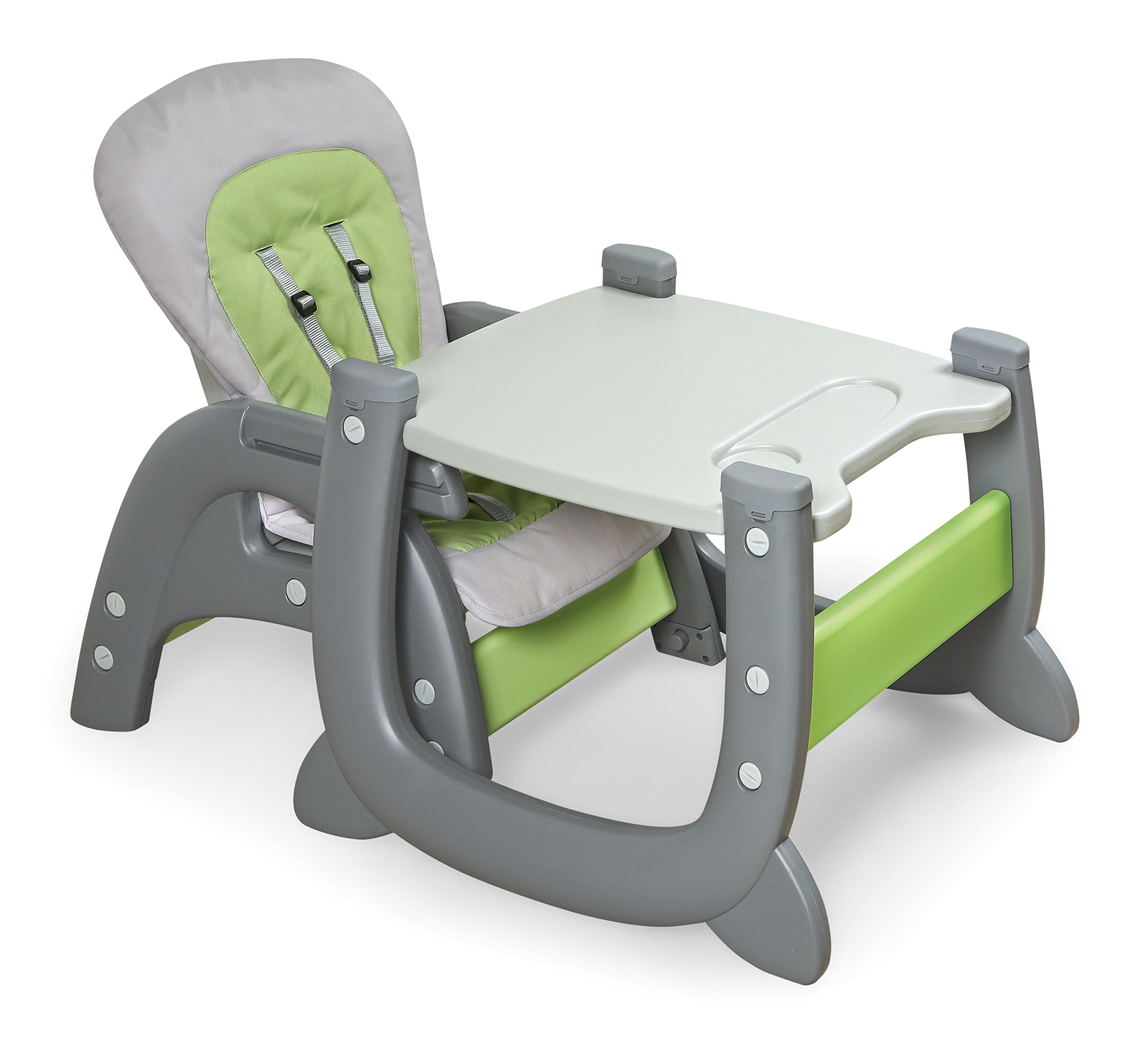 high chair converts to table and pride lift badger basket envee ii baby with playtable conversion gray green