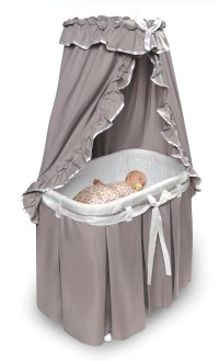 Badger Basket 30063 Majesty Baby Bassinet with Canopy and ...