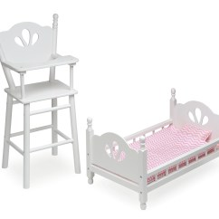 Badger Basket Doll High Chair Plumbing Pedicure Chairs English Country And Bed Set