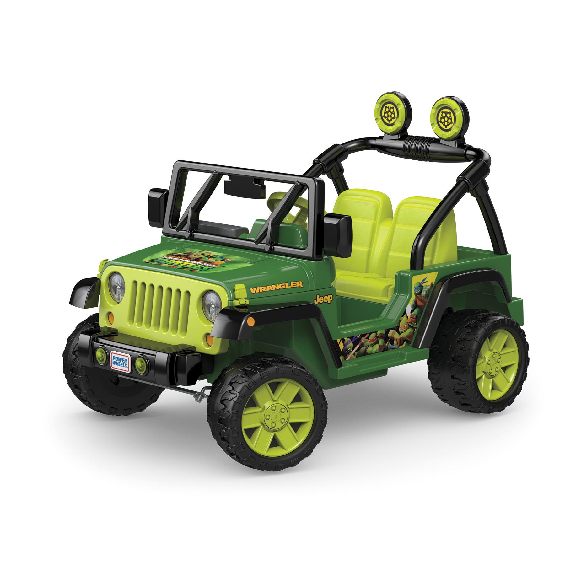 Power Wheels 12v Battery Toy Ride- -teenage Mutant Ninja Turtles Jeep Wrangler