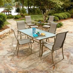 Bistro Table And Chairs Kmart Swivel Shower Chair With Back Arms Essential Garden Brighton 9pc Patio Set