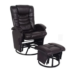 Reclining Chair With Ottoman Leather Cover Rentals Vaughan Essential Home Glider Recliner