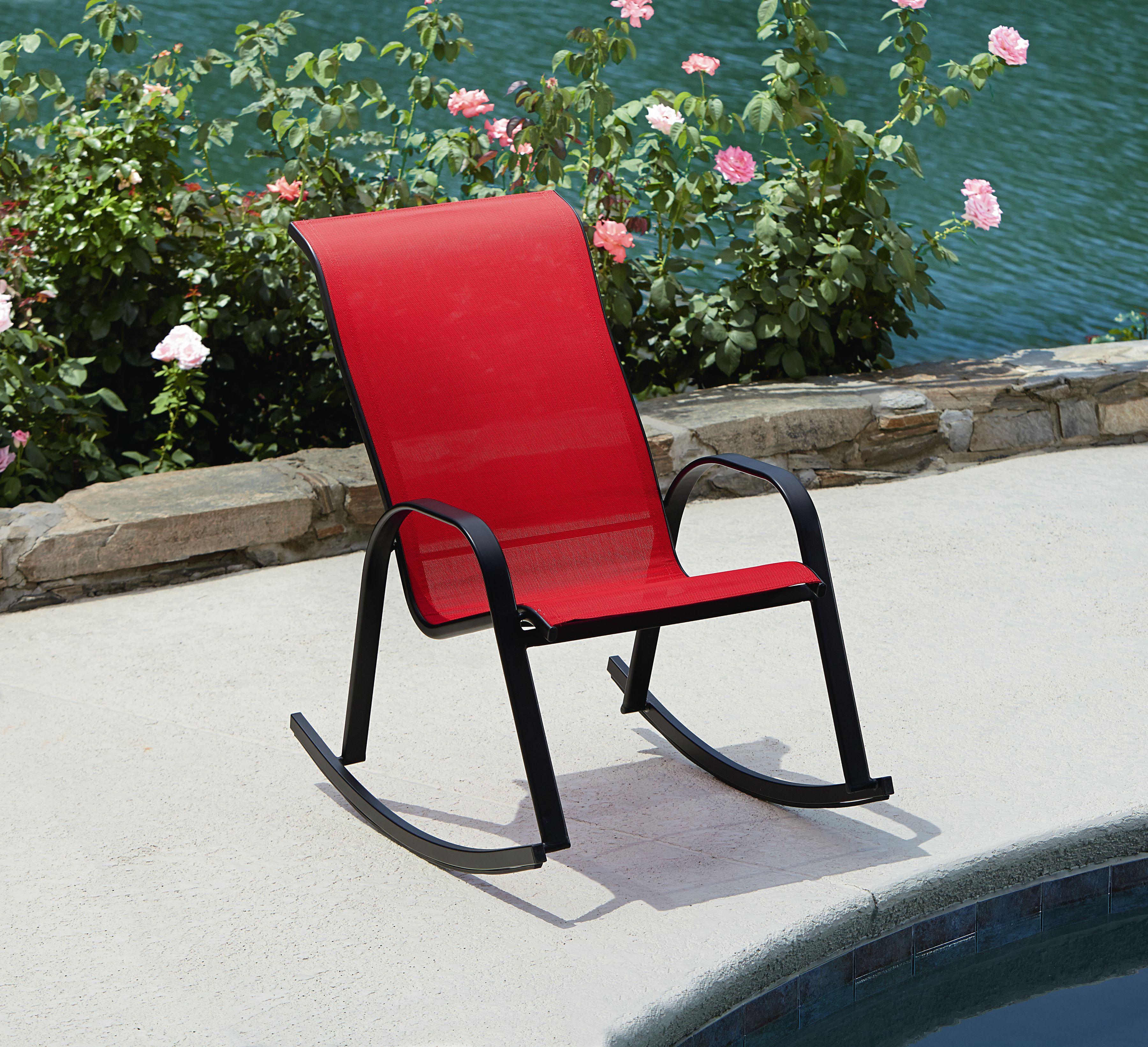 Essential Garden Bartlett Rocker- Red - Outdoor Living