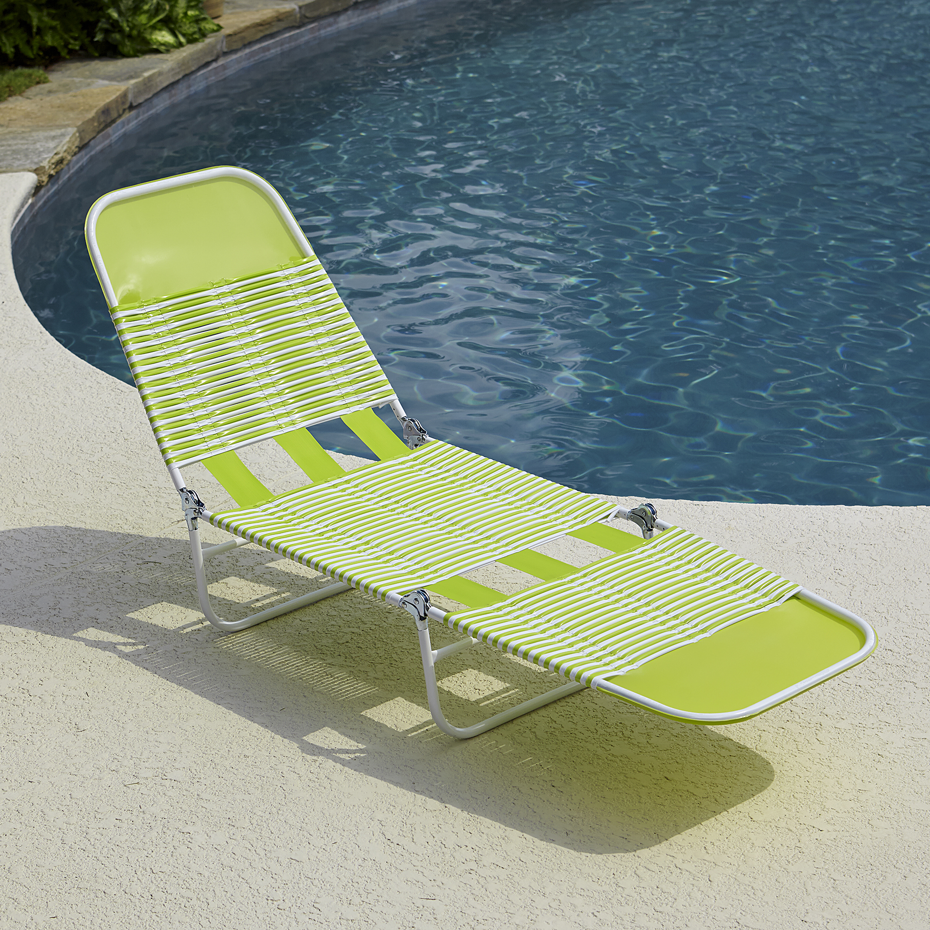 Pvc Chaise Lounge- Green - Outdoor Living Patio