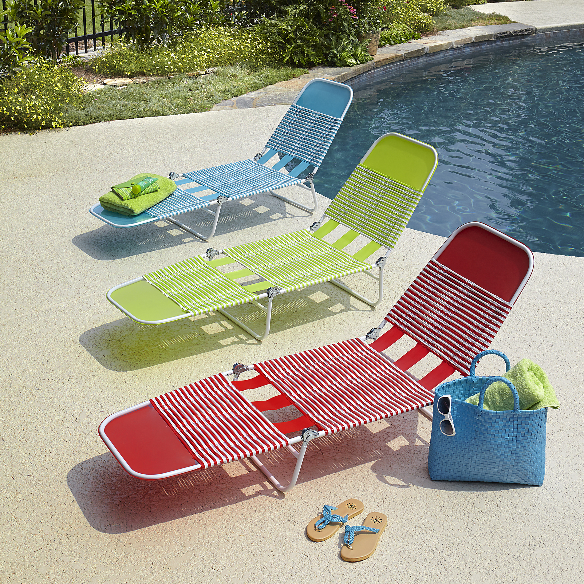 pvc lounge chair table and all in one chaise blue outdoor living patio furniture chairs