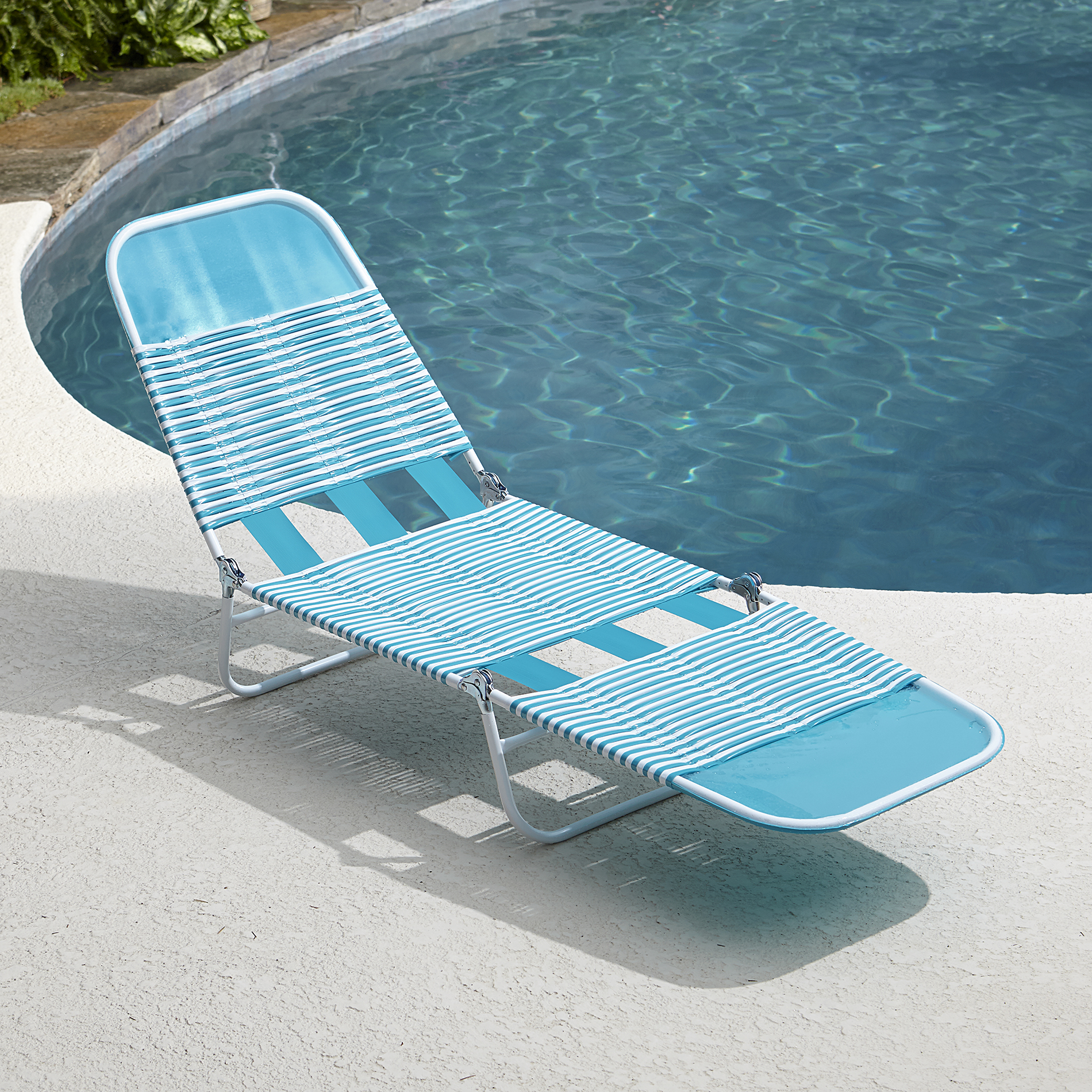 Pvc Chaise Lounge- Blue - Outdoor Living Patio Furniture