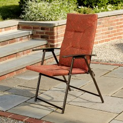 Patio Folding Chairs Padded Doll High Canada Cora Chair Terra Cotta Outdoor Living