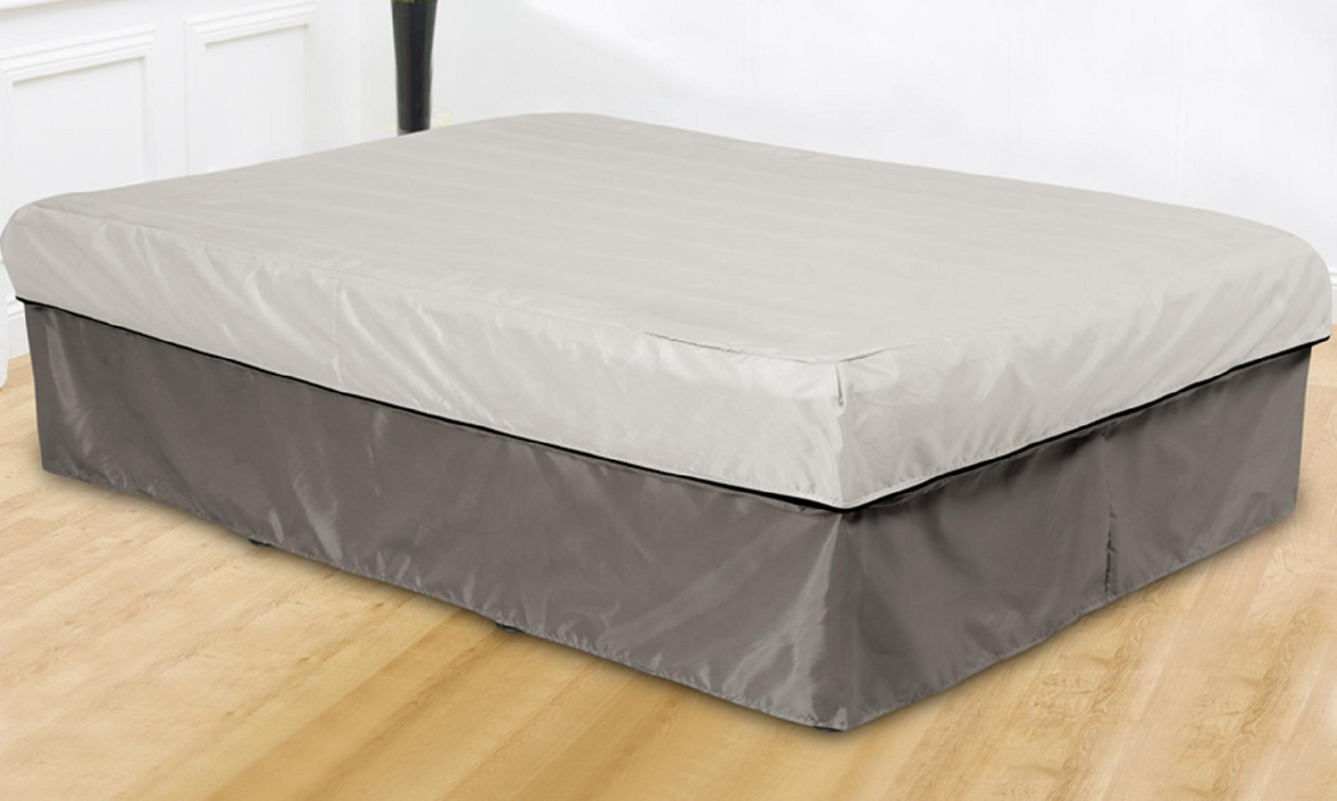 Queen Size Inflatable Air Bed with Skirt Pump Included