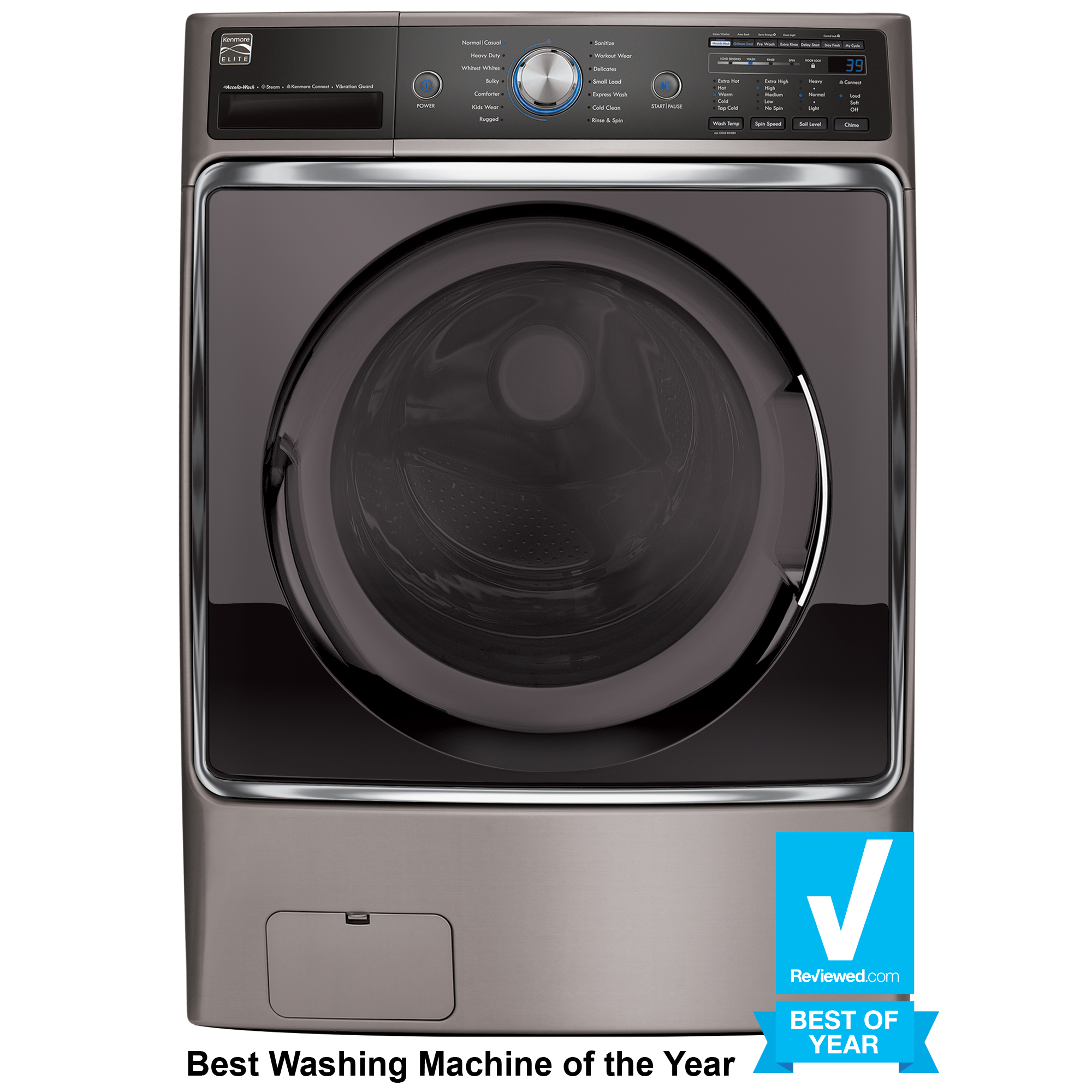medium resolution of kenmore elite 41073 5 2 cu ft front load washer with steam treat wiring diagram for kenmore elite dryer front loader