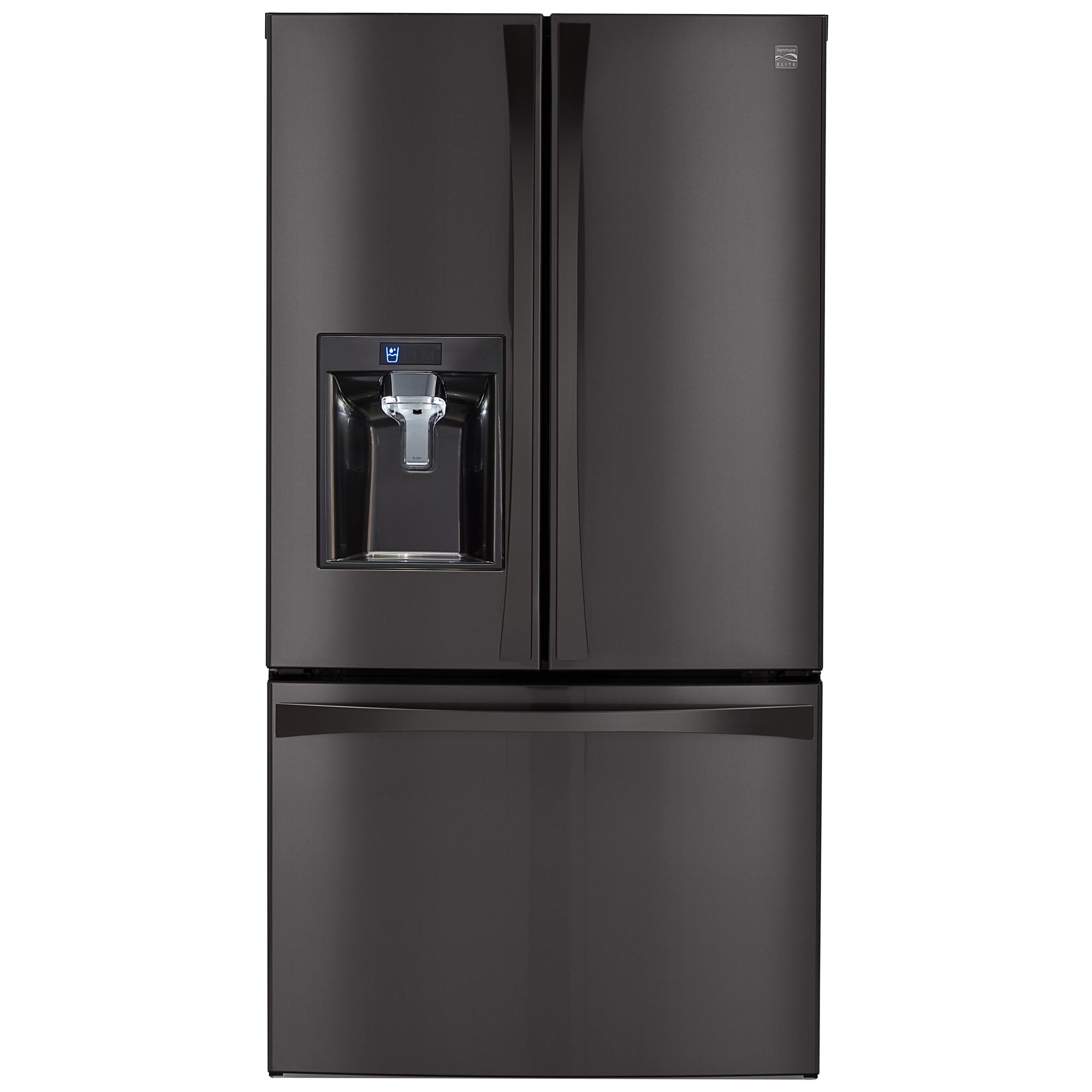 Kenmore Elite 74027 29.8 Cu. Ft. French Door Bottom-freezer Refrigerator - Black Stainless Steel