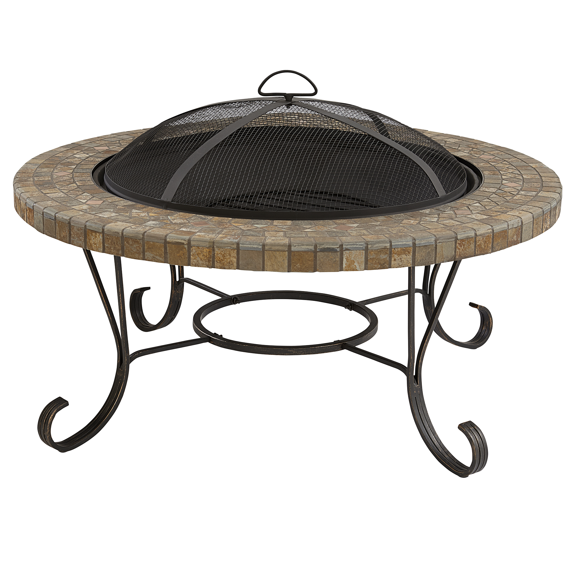 """BBQ Pro Slate Tile Top Fire pit, 34"""" *Limited Availability*"""