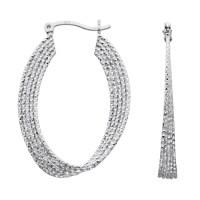 Fashion Oval Hoop Earrings